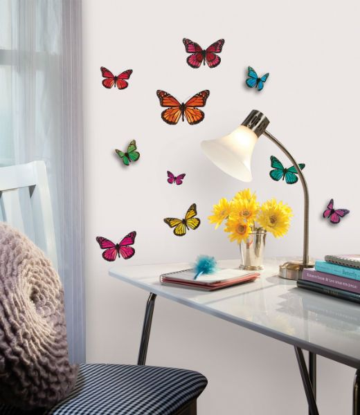 muursticker meisjes vlinders