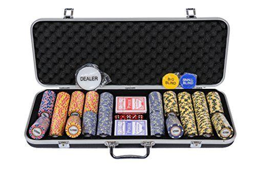Riverboat Gaming Monte Carlo Poker Chips Set - 14g 500 Piece Numbered Poker Set