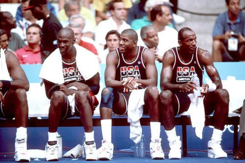 Michael Jordan x Magic Johnson x Clyde Drexler - Dream team!