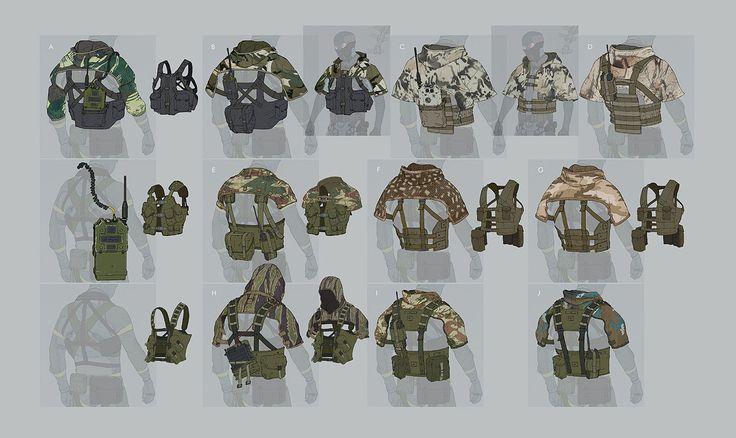 Shoulder coverings from metal gear online rpg for Metal concept