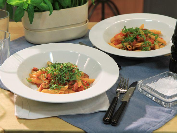 Pasta med chorizo och paprika | Recept från Köket.se