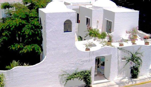 Greek Inspired Architecture Of Aqualuna Hotel In Playa Del Carmen
