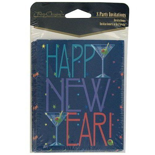 96 Happy New Year invitations; pack of 8 by FindingKing. $146.99. This is a new set of 24 new years toast 8 count invitations/envelopes