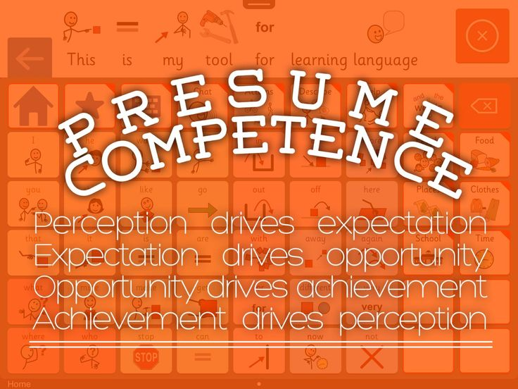 Presume Competence from Rachael M Langley, MA, CCC-SLP with - assume and presume