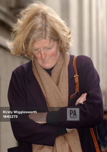oct 25,2002--Princess Diana's sister, Lady Jane Fellows, leaves the Old Bailey after giving evidence at the trial of Paul Burrell