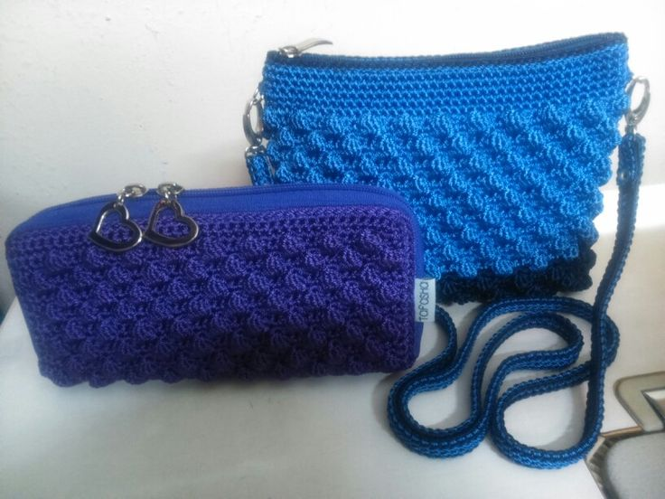 Tafasha clutch & cross body purse crochet / made by order