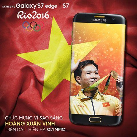 Chúc mừng xạ thủ Hoàng Xuân Vinh - vận động viên Việt Nam đầu tiên giành HCV Olympic #nguyenkim #samsung #galaxyS7 #galaxyS7edge