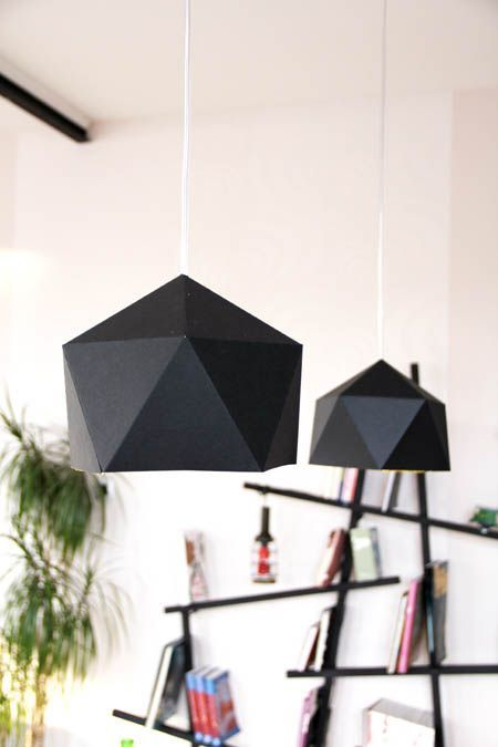 Suspensions en papier #DIY #lamp #pendant #origami #paper #inspiration #ideas