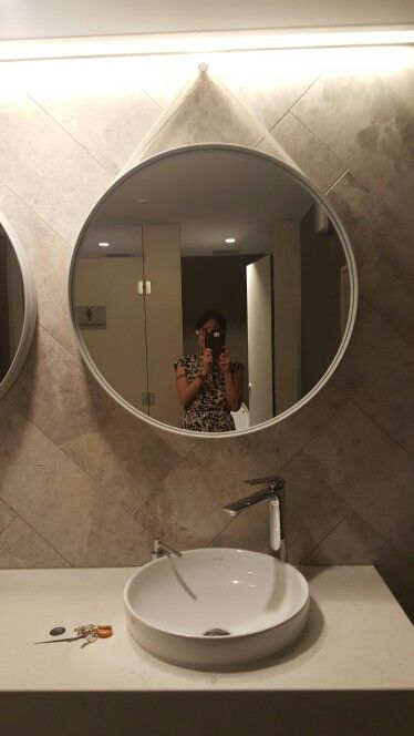Mirror and tiles