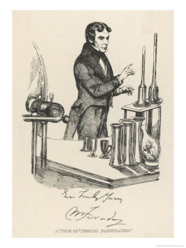 Michael Faraday English Scientist in His Laboratory - This Day in History: Aug 29,1831: Michael Faraday discovers electromagnetic induction.