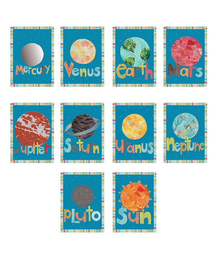 Planet Wall Card Set | Daily deals for moms, babies and kids