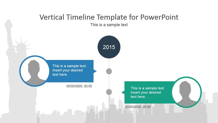 Vertical Timeline PowerPoint Template | Ppt design, Timeline and ...
