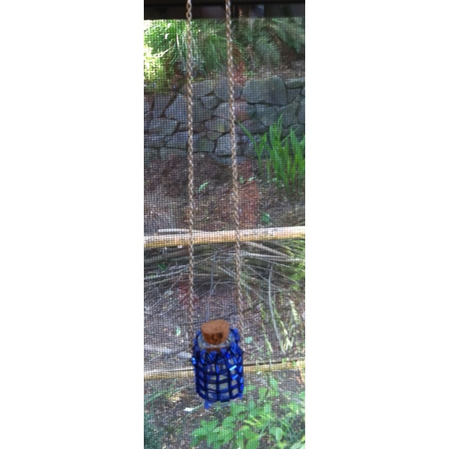 This is the same blue Right Angle Weave amulet bottle that I have a closeup of in another picture.