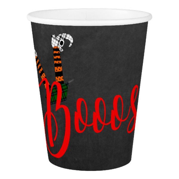 Boo On Booze And Boo Halloween Party Cups #halloween #holiday #drinkware #party #cups
