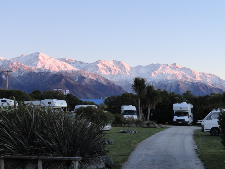 Kaikoura. Top 10 Caravan Park. Can't beat that view!