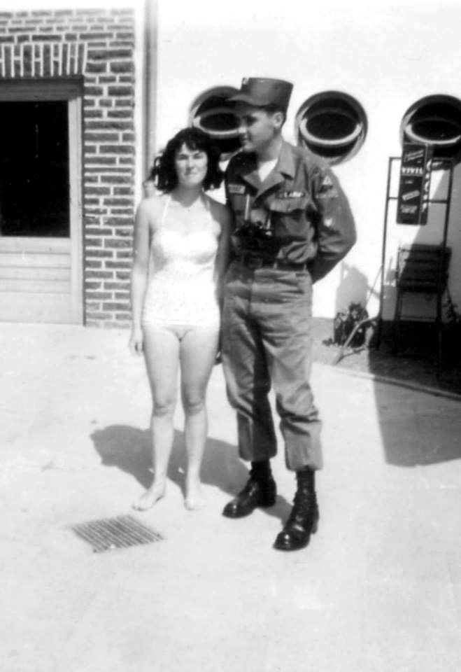 Elvis in the army in Germany , august 14 1959 , a year after his mother death.