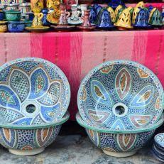 artesania-marroqui, lavabos para casa rural melones