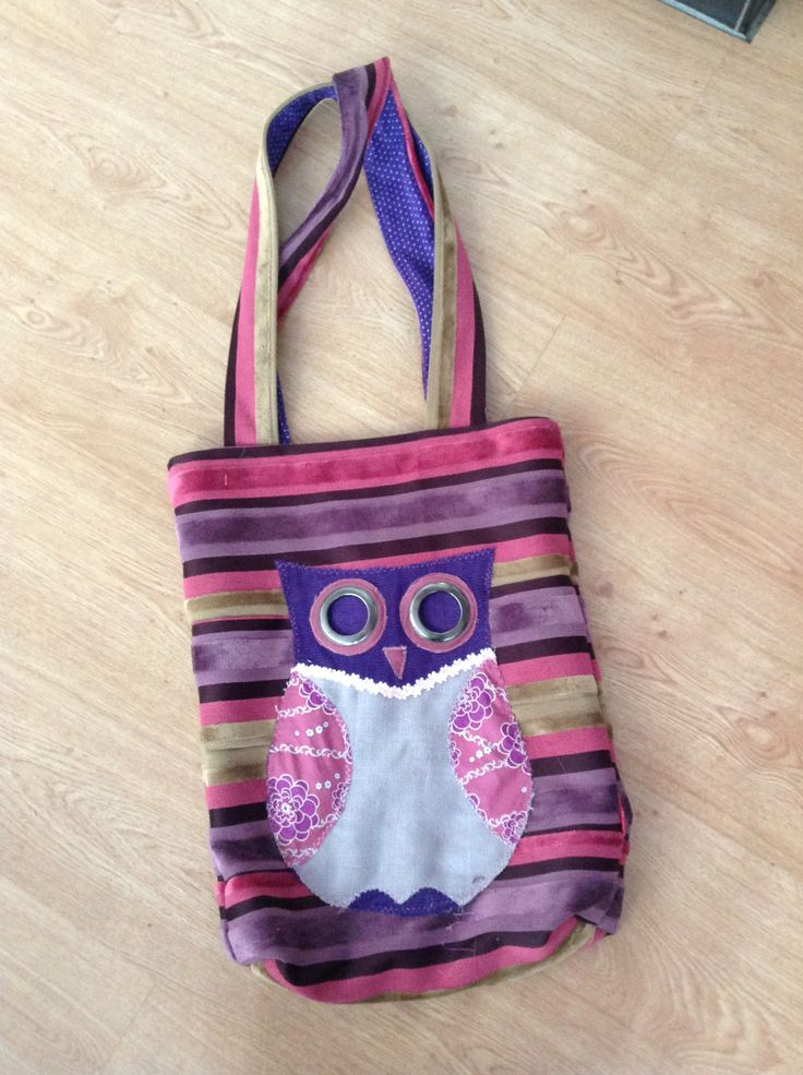Am in love with my latest bag , bucket style made from curtain remnants