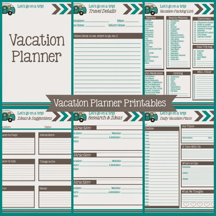 The Simply Everything Blog: Vacation Planner Printables