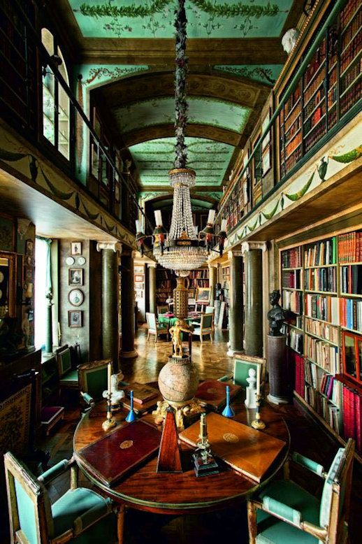 French Chateau Interiors Chateaus Classic Library Restaurant Galleries Car Les Champs Mansions