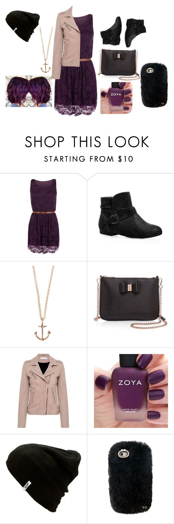 """""""Casual Outing Outfit"""" by loveleyktatoute on Polyvore featuring WearAll, Avenue, Minor Obsessions, Ted Baker, IRO, Zoya and Vans"""