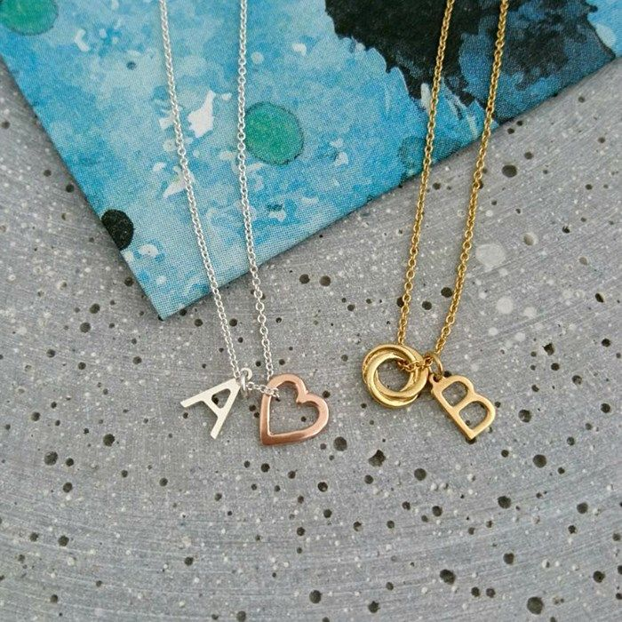 Personalised Posh Totty Designs Initial & Charm Necklace | GettingPersonal.co.uk