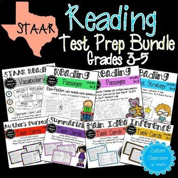 Help your students review and prepare for their STAAR Reading Test in a fun and strategic way! This mega bundle includes all my best STAAR resources for elementary students! I designed these activities using popular chapter books to help engage your students as well as modeled them after the 3rd-grade through 5th-grade STAAR released tests.