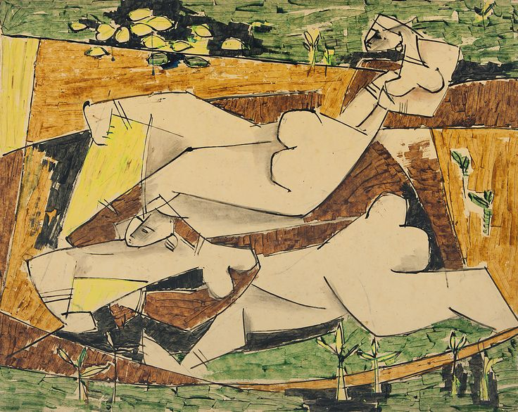 G. R. Santosh Medium: Water colour and gouache on paper Year: 1956 Size: 20.7 x 26 in.