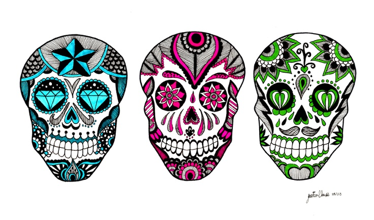 Hurrah! I've finally finished my sugar skulls! I'm quite happy how it turned out :3   Like me on Facebook!