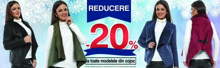 Vă prezentăm o REDUCERE de neratat!  Beneficiază acum de -20% la toate modelele din cojoc marca Adrom Collection. Atenție, stocul este limitat!  http://www.adromcollection.ro/cautare?controller=&search_query=cojoc