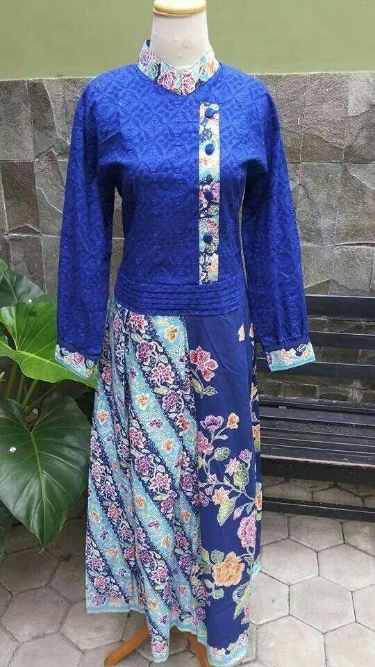 Long Dress batik encim mix batik embos  Reserved