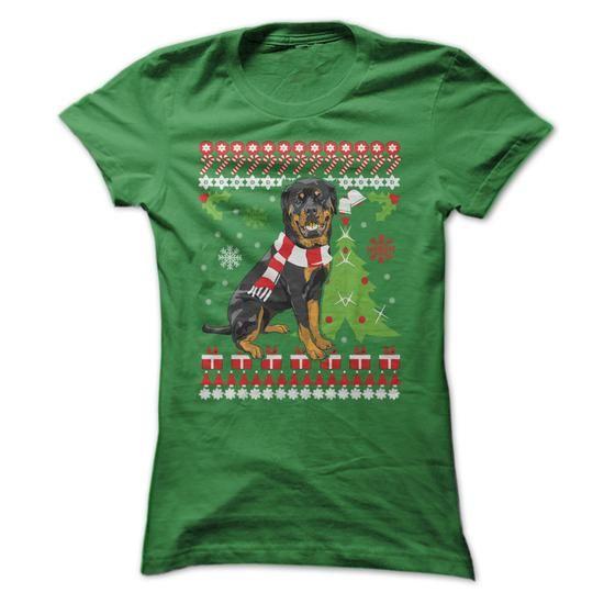 Rottweiler Christmas - #shirt pillow #tshirt painting. LOWEST PRICE => https://www.sunfrog.com/Pets/Rottweiler-Christmas.html?60505