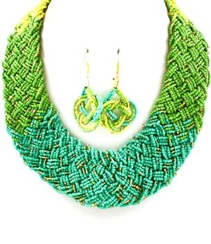 St Tropez Green Necklace