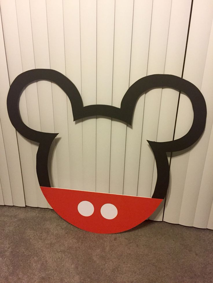Mickey Mouse Birthday Party Picture Frame Photo Booth Prop Idea