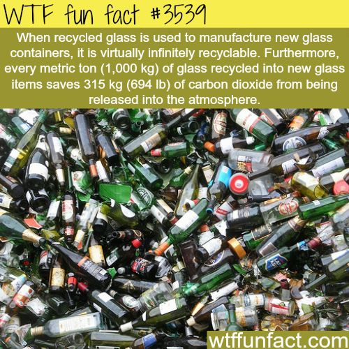 Glass recycling and the amount of CO2 saves per ton - WTF fun facts