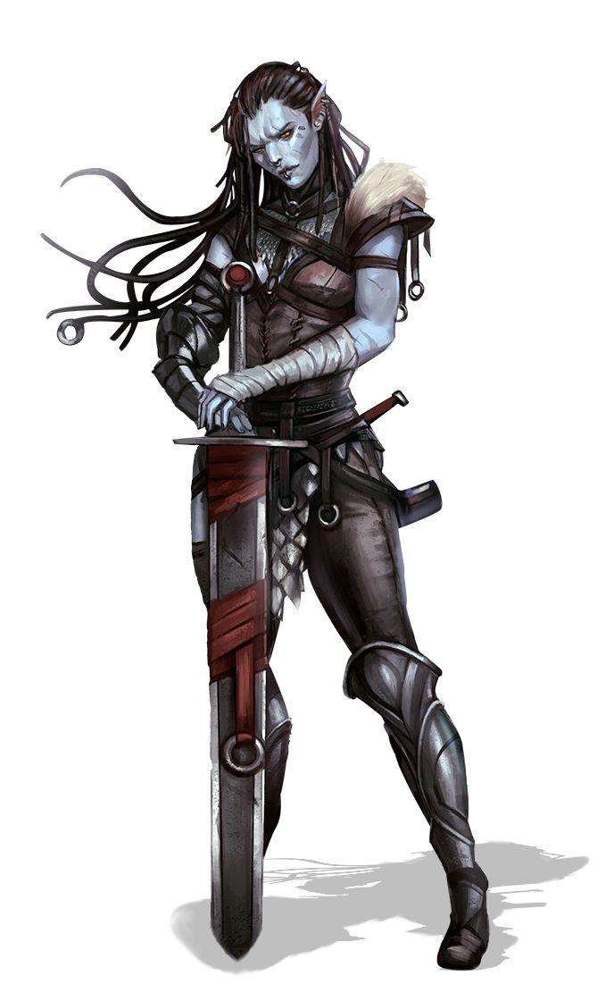 Female Hobgoblin Fighter Warrior - Pathfinder PFRPG DND D&D d20 fantasy