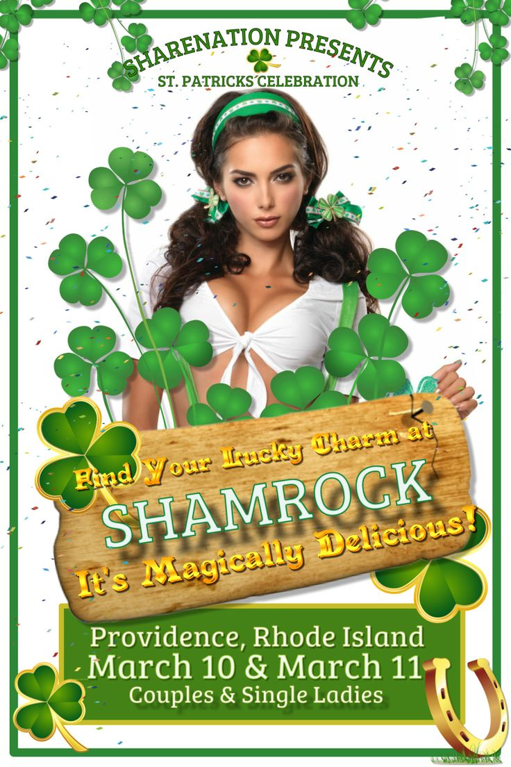 The SHAMROCK Now a HOTEL TAKEOVER! Providence IR Fri Mar 10-12 #swingers #party  http://sex-y.org/events/11385