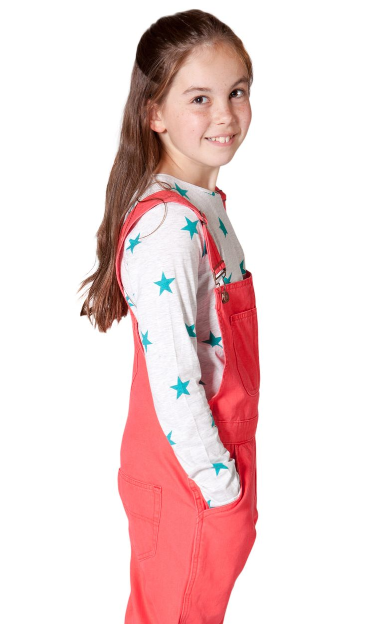 USKEES Beth Pink Girls' Dungarees Age 6-12 yrs available from Dungarees Online.