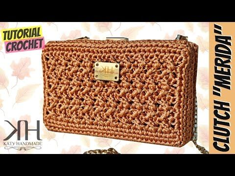 "Tutorial crochet clutch ""MERIDA"" || Katy Handmade - YouTube"