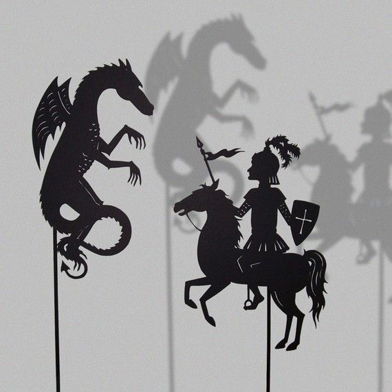 St. George and the Dragon. Cool!  What about a tall ship. A highjumper.  A polo player. Many possibilities