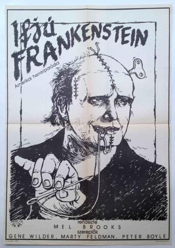 Young Frankenstein  Hungarian vintage movie poster  from the Budapest Poster Gallery