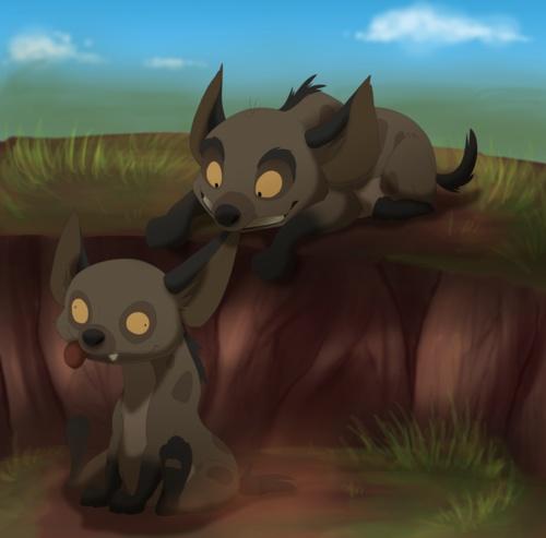 Baby hyenas! AWWWW!