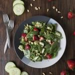 Spinach Salad with Strawberries   Pine Nuts