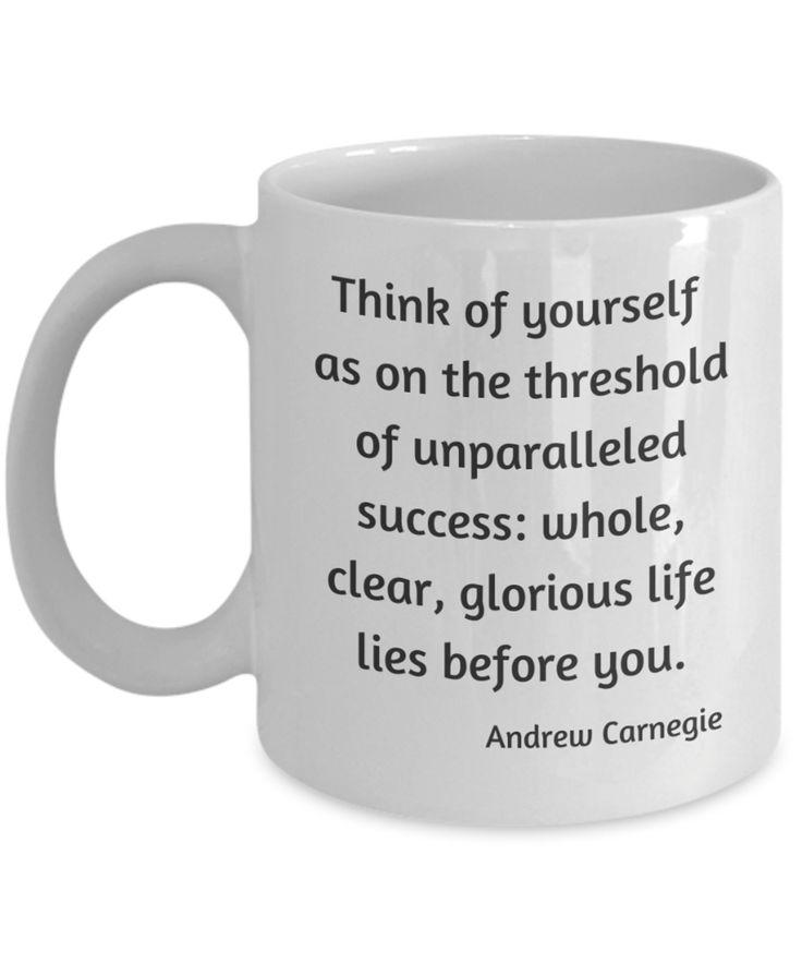 Andrew Carnegie Think Quote Coffee Mug - Ceramic, Multiple ...