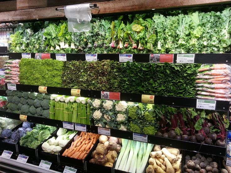 vegetable in supermarket