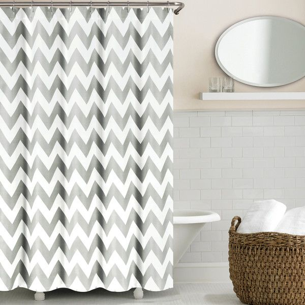 Echelon Home Chevron Shower Curtain & Reviews | Wayfair