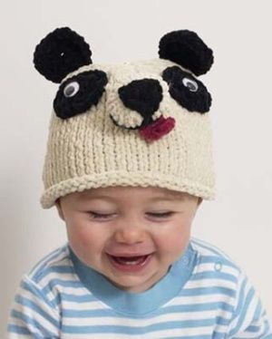 Free Knitting Pattern 50627-6 Baby Animal Panda Bear Hat ...
