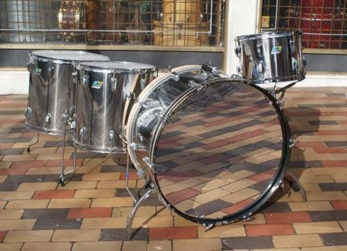 Ludwig Vintage John Bonham Drum Set 1977 Stainless Steel · 1977