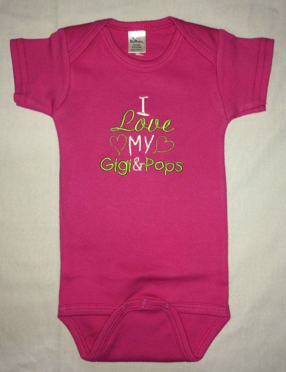 I Love my Gigi & Pops custom embroidered by BoutiqfullyYours
