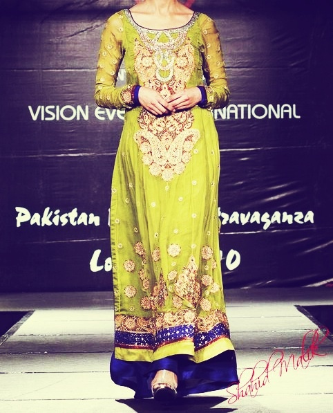 Gorgeous lime green Pakistani designer outfit